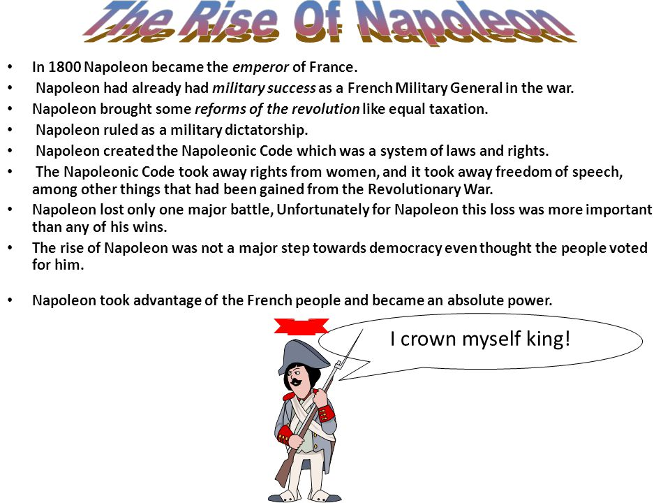 The Rise Of Napoleon I crown myself king!