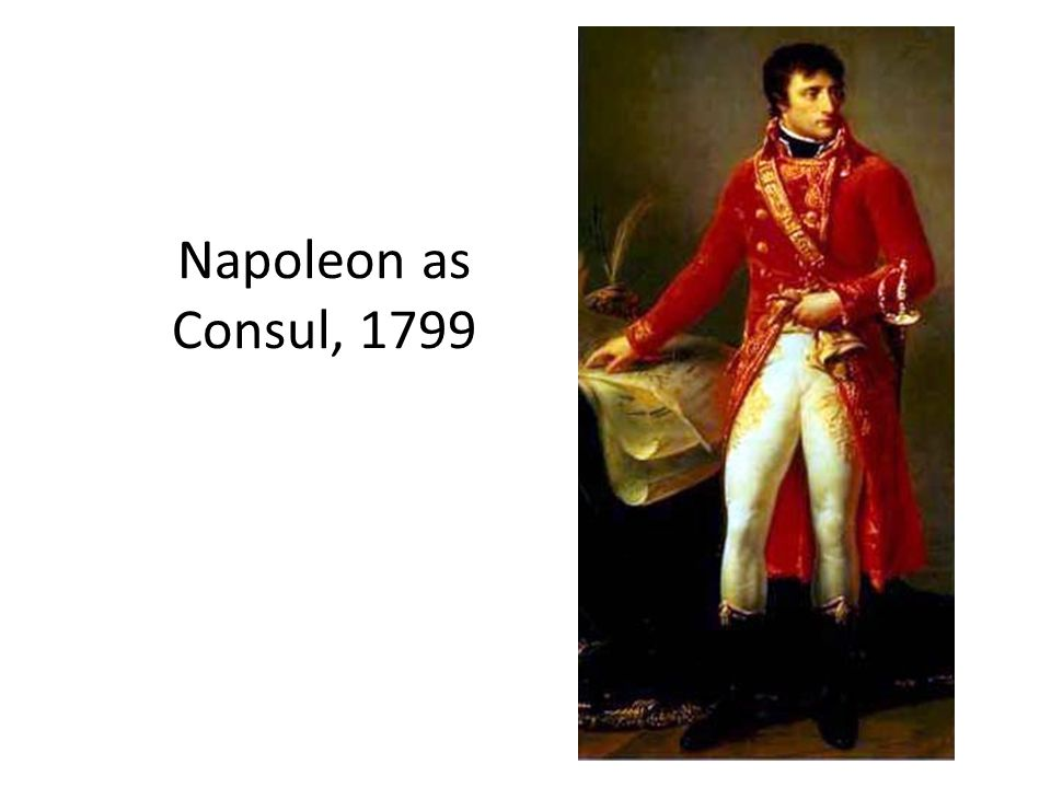 Napoleon as Consul, 1799