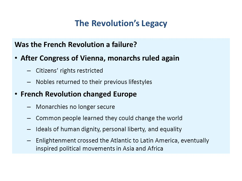 The Revolution's Legacy