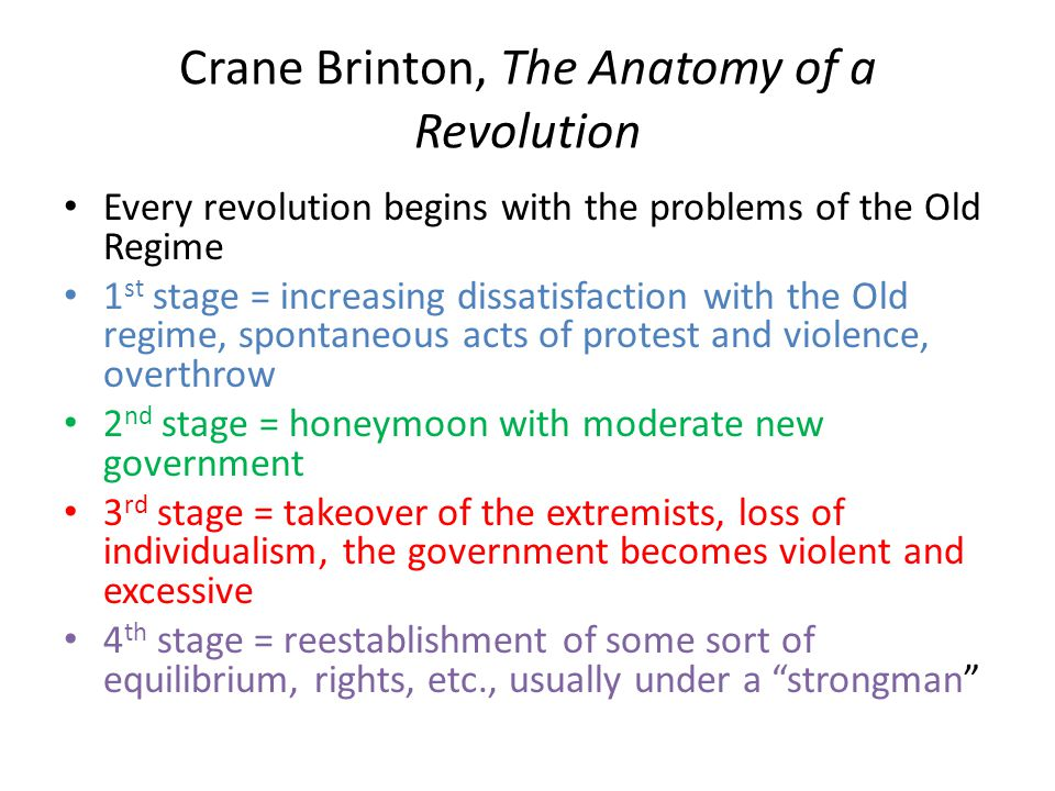 Crane Brinton, The Anatomy of a Revolution