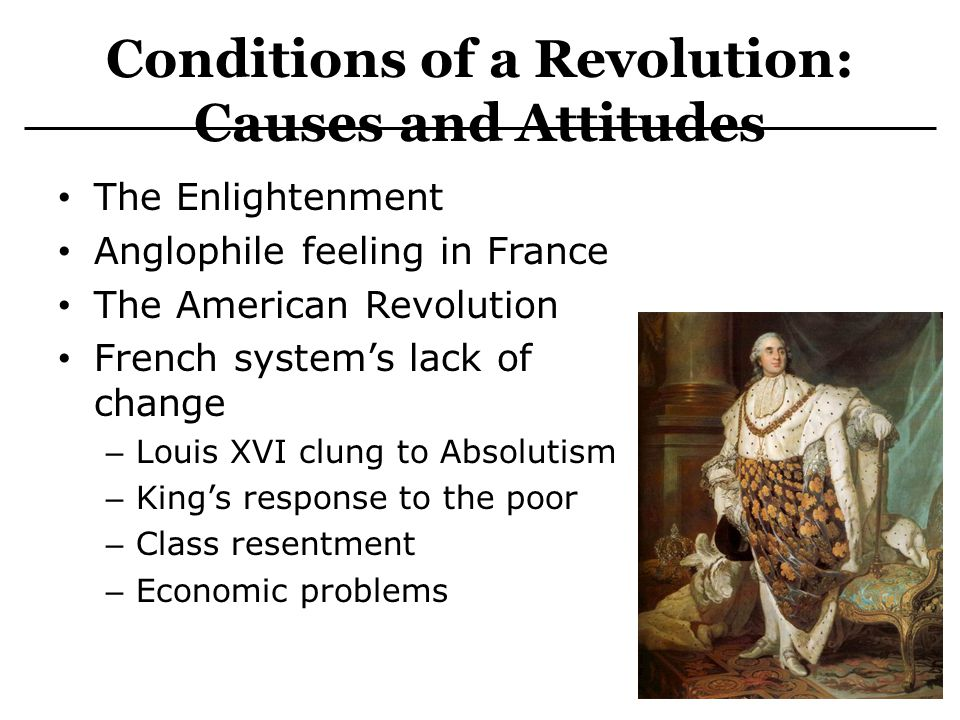 Conditions of a Revolution: Causes and Attitudes