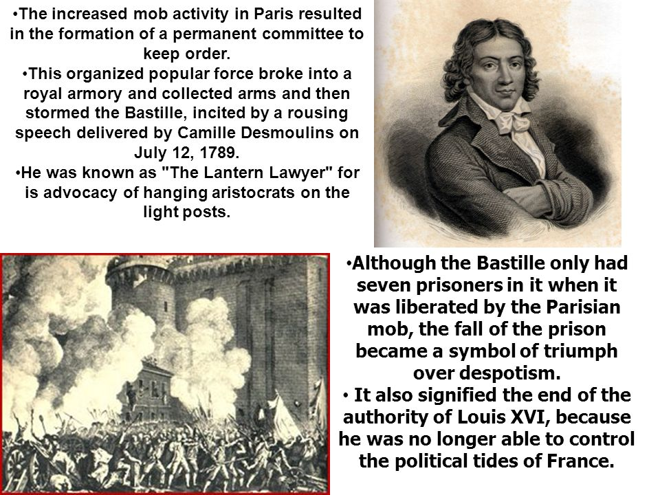 The increased mob activity in Paris resulted in the formation of a permanent committee to keep order.