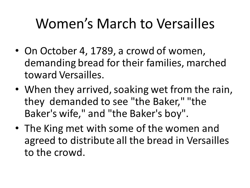 Women's March to Versailles