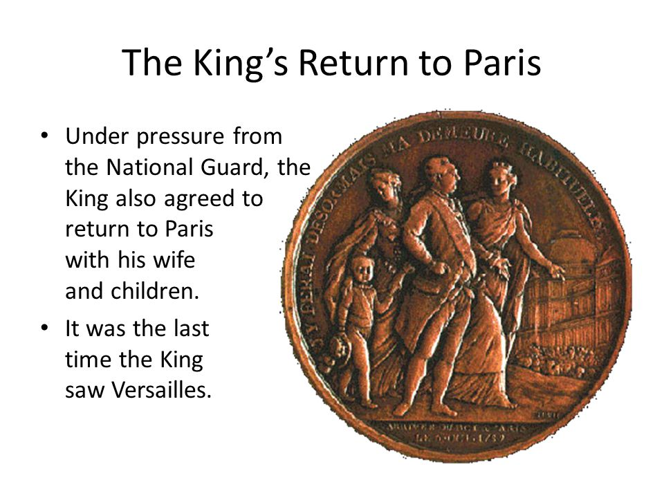 The King's Return to Paris
