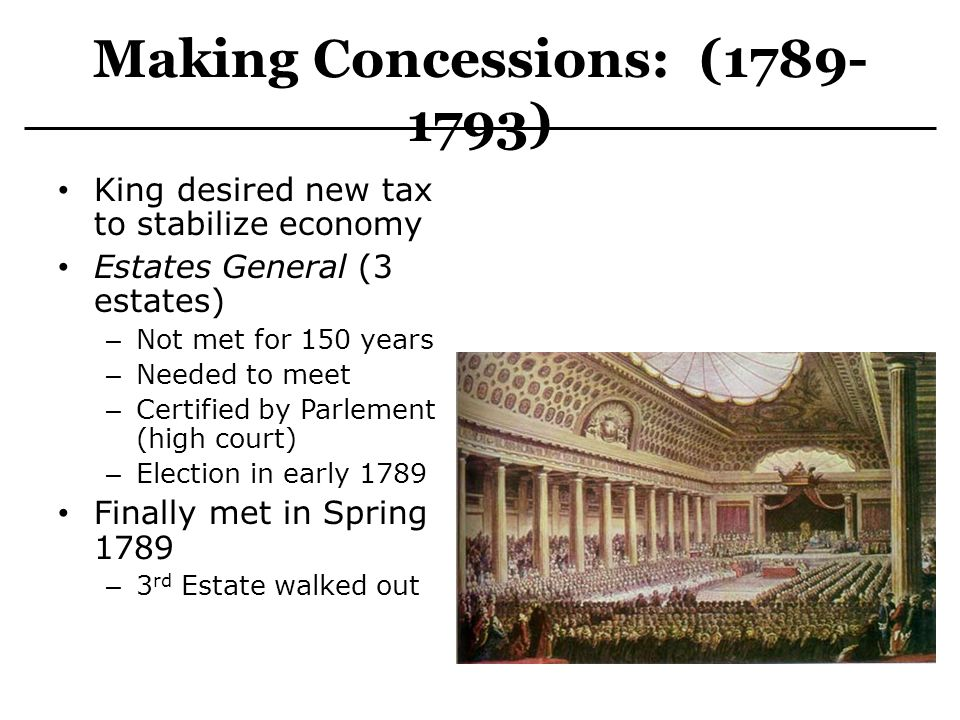 Making Concessions: (1789-1793)