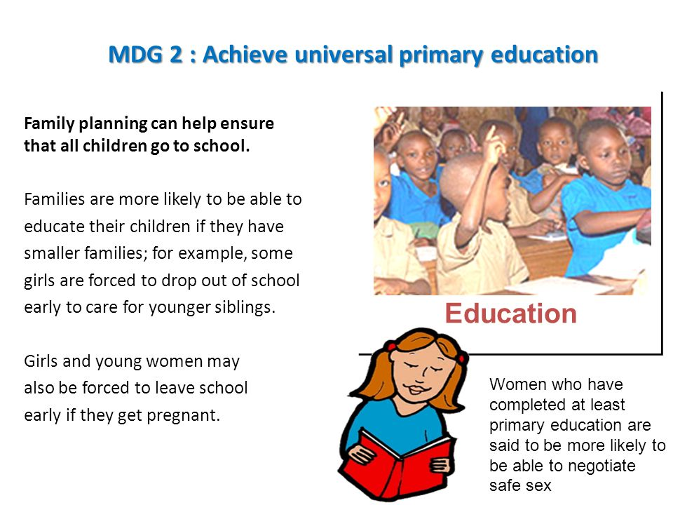 MDG 2 : Achieve universal primary education