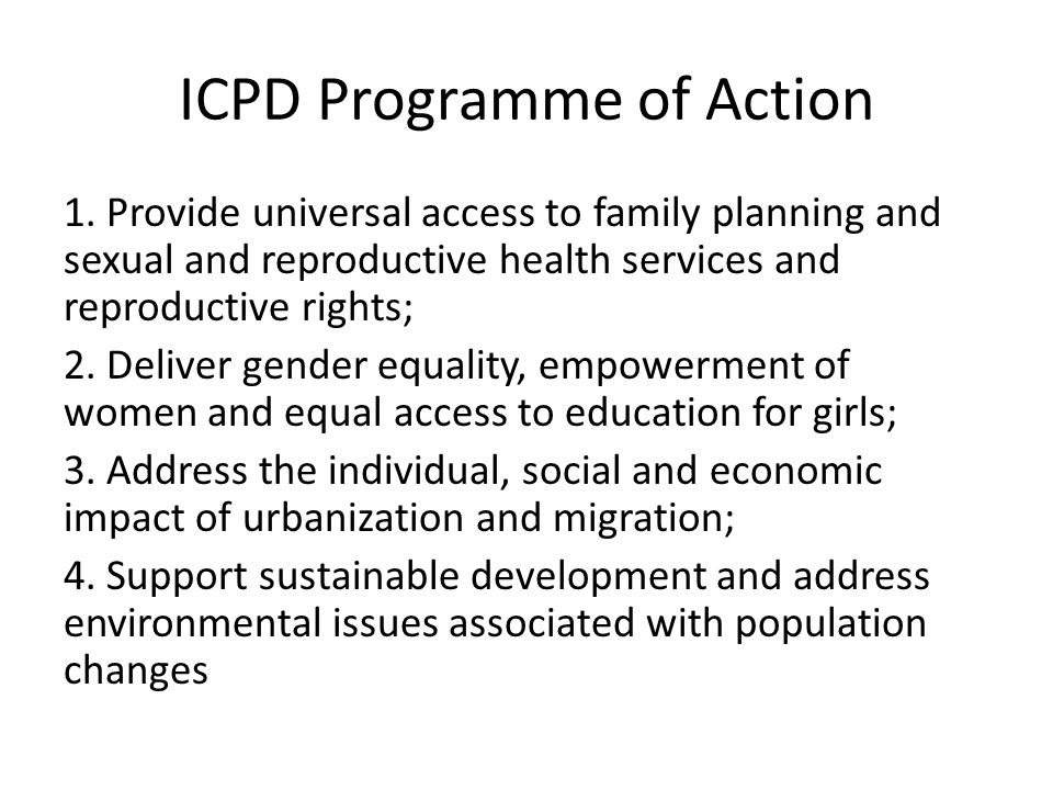 ICPD Programme of Action