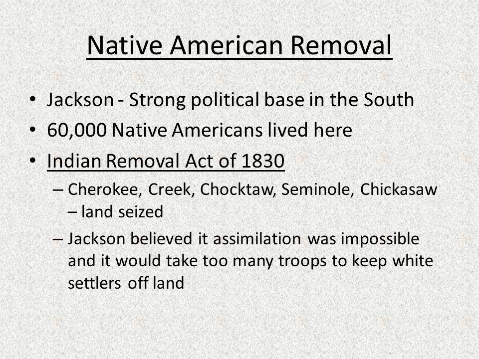 Native American Removal
