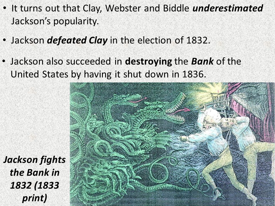 Jackson fights the Bank in 1832 (1833 print)