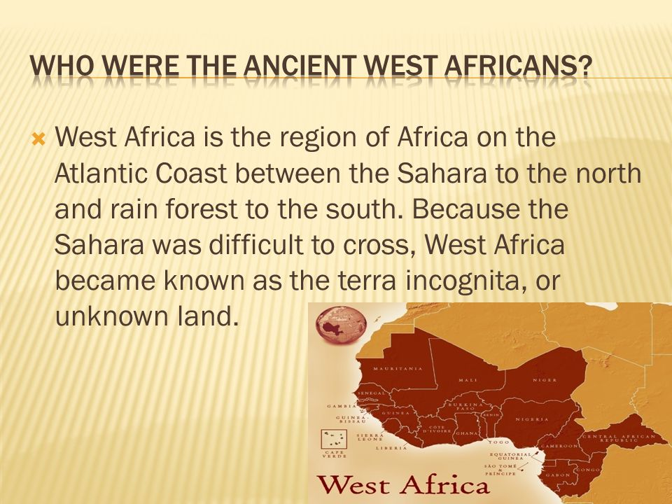 Who were the Ancient West Africans