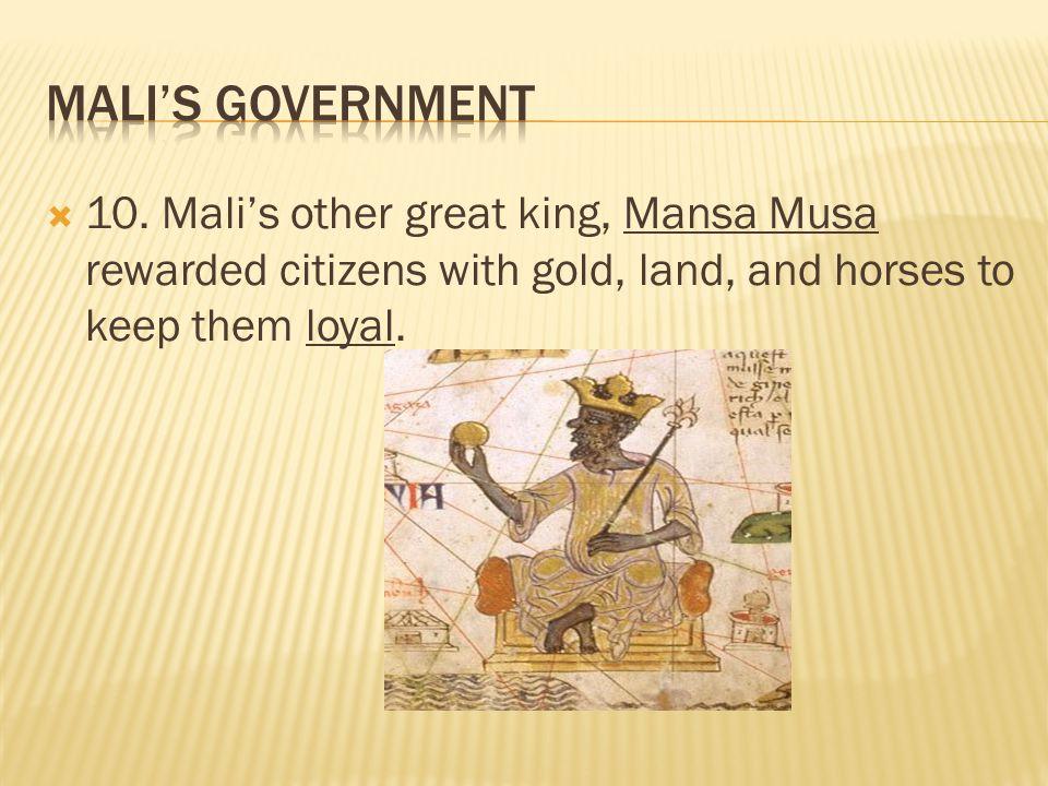 Mali's Government 10.