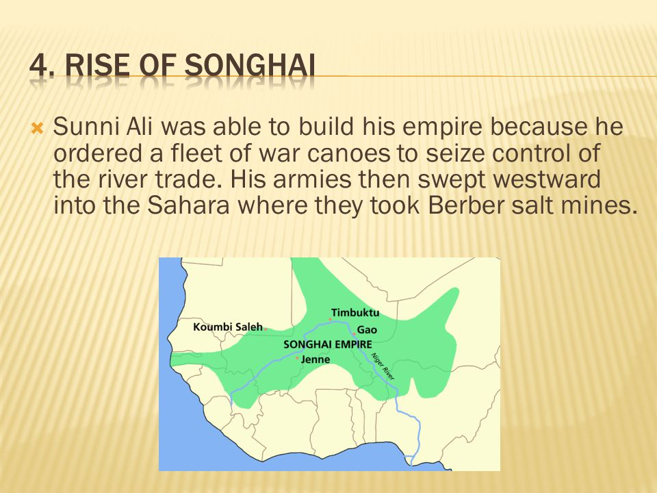 4. Rise of Songhai