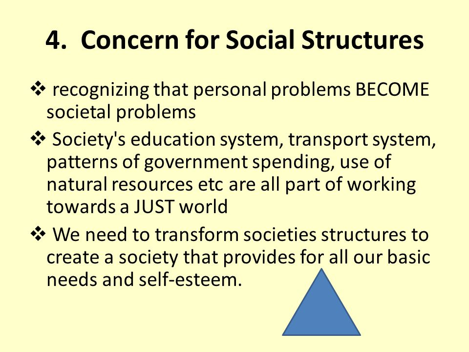 4. Concern for Social Structures
