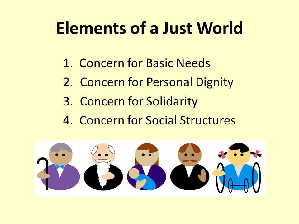 Elements of a Just World