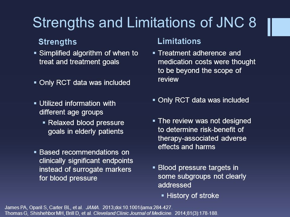 Strengths and Limitations of JNC 8
