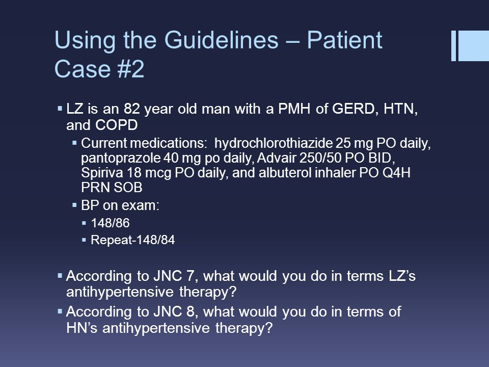 Using the Guidelines – Patient Case #2