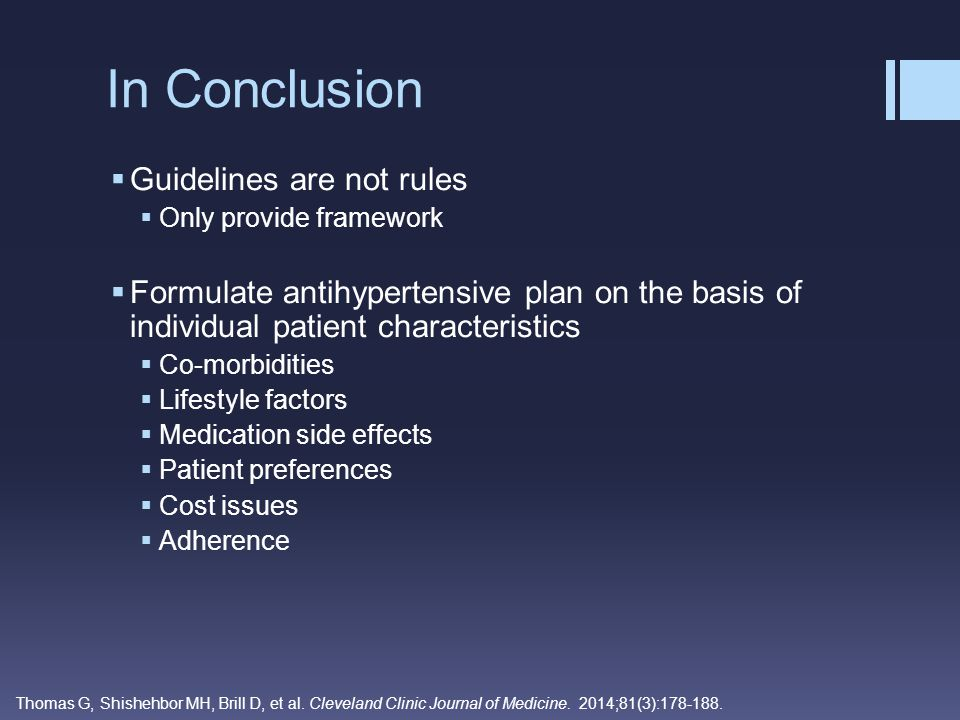In Conclusion Guidelines are not rules