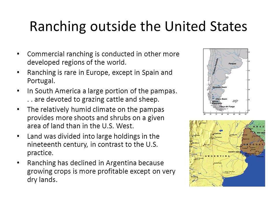 Ranching outside the United States
