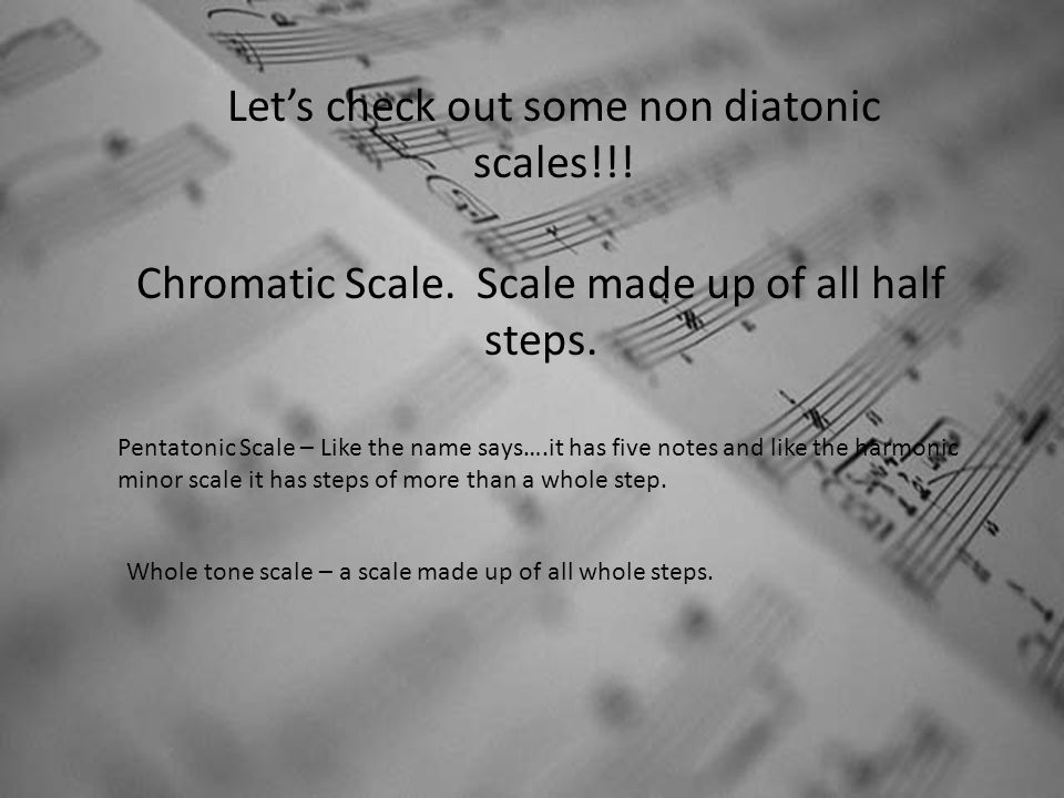 Let's check out some non diatonic scales!!!
