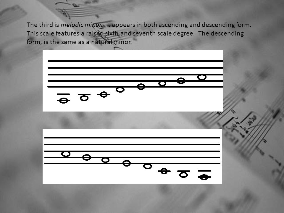 The third is melodic minor