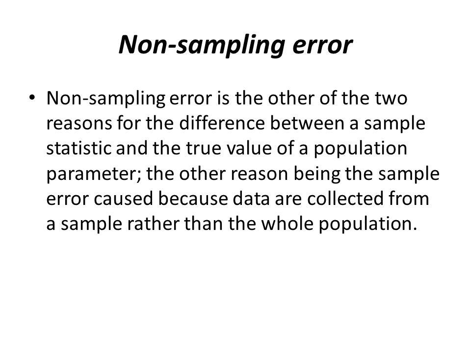 Non-sampling error
