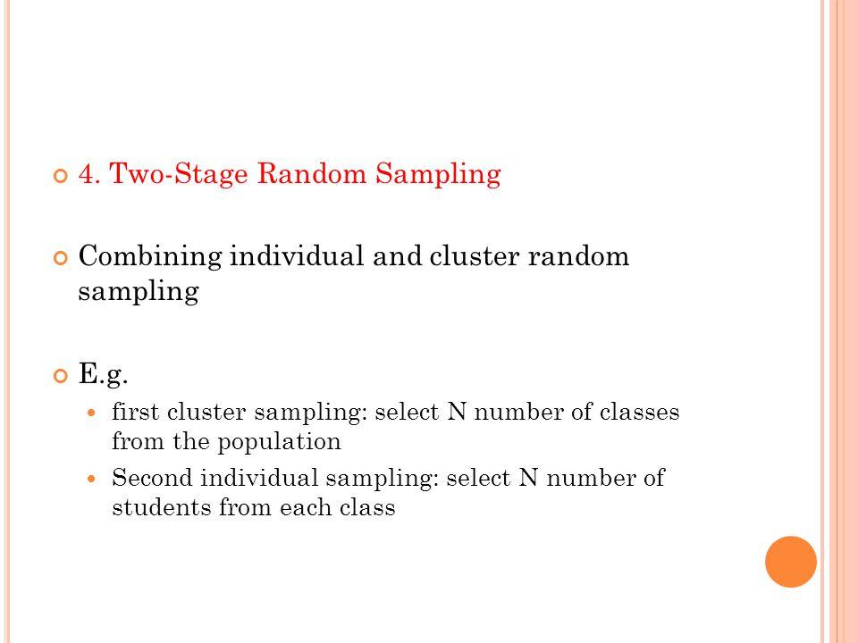 4. Two-Stage Random Sampling