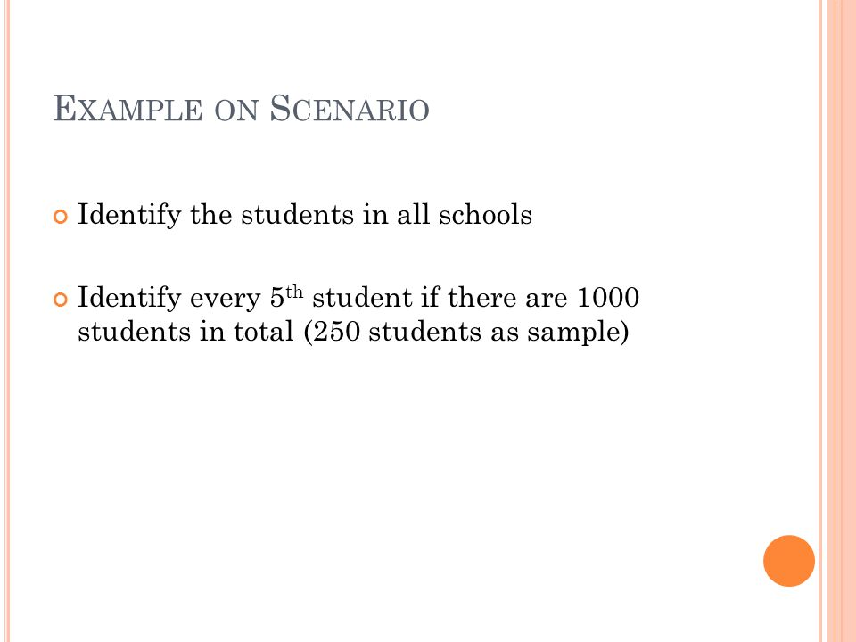 Example on Scenario Identify the students in all schools