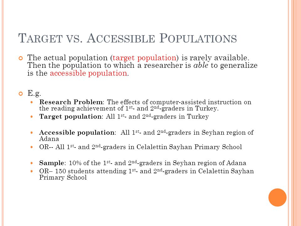 Target vs. Accessible Populations