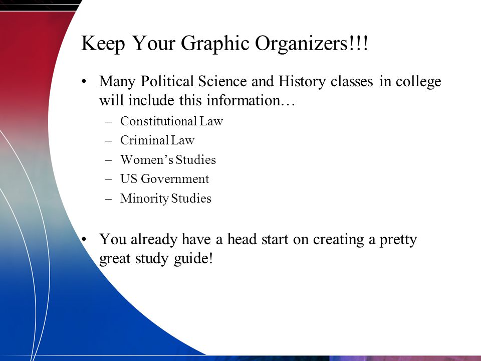 Keep Your Graphic Organizers!!!