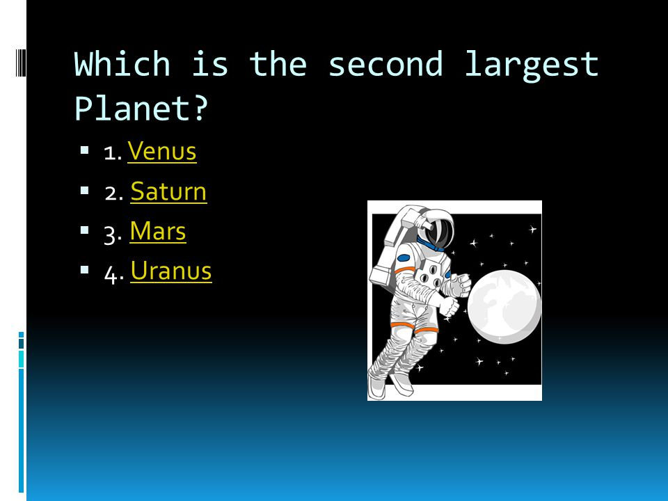 Which is the second largest Planet