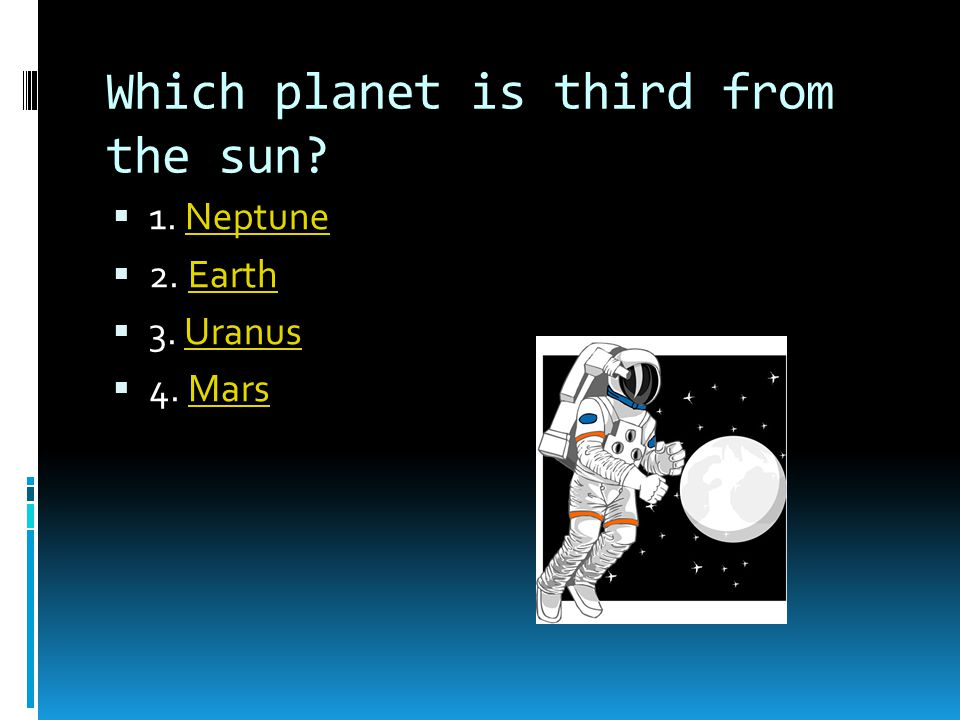 Which planet is third from the sun