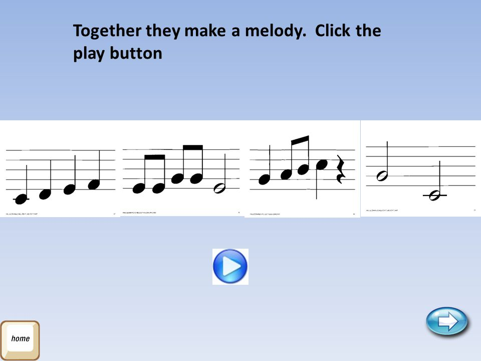 Together they make a melody. Click the play button