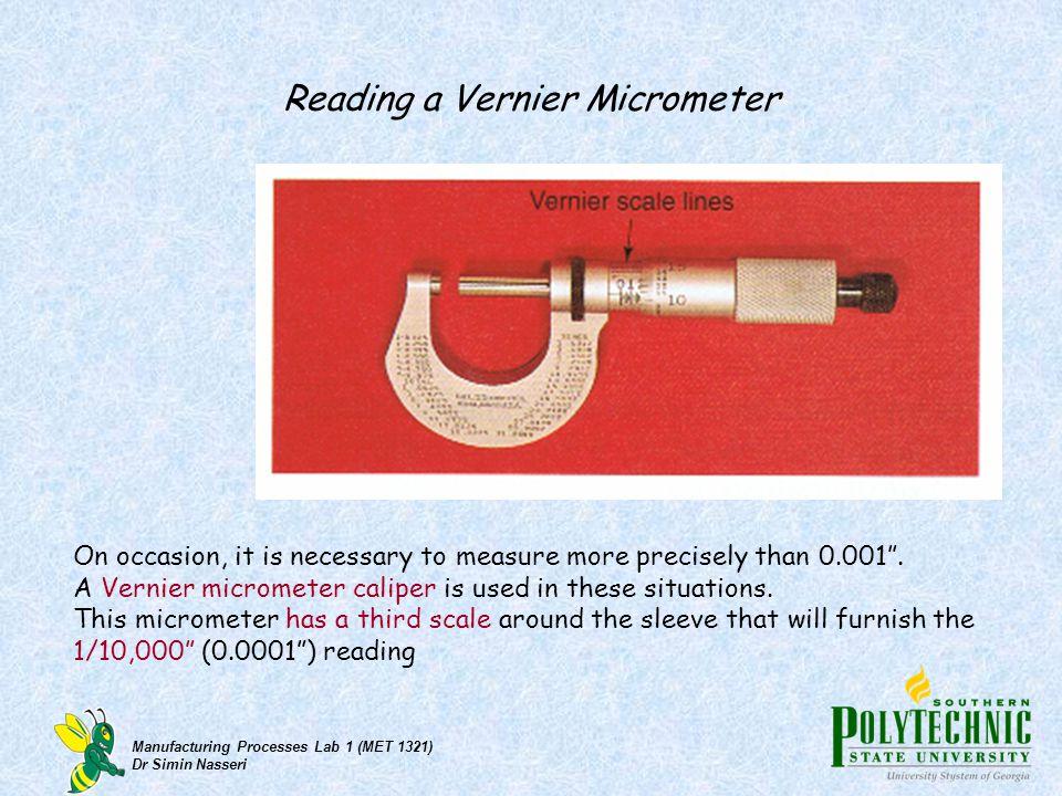 Reading a Vernier Micrometer