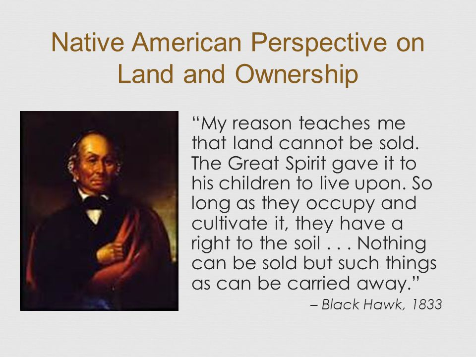 Native American Perspective on Land and Ownership