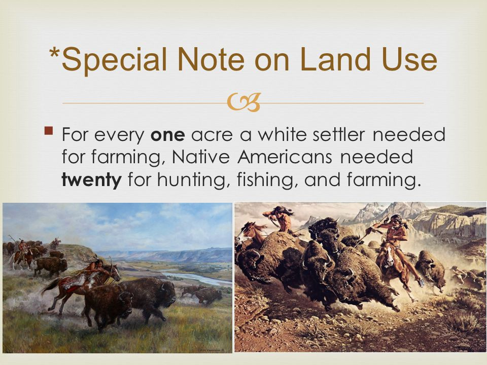 *Special Note on Land Use