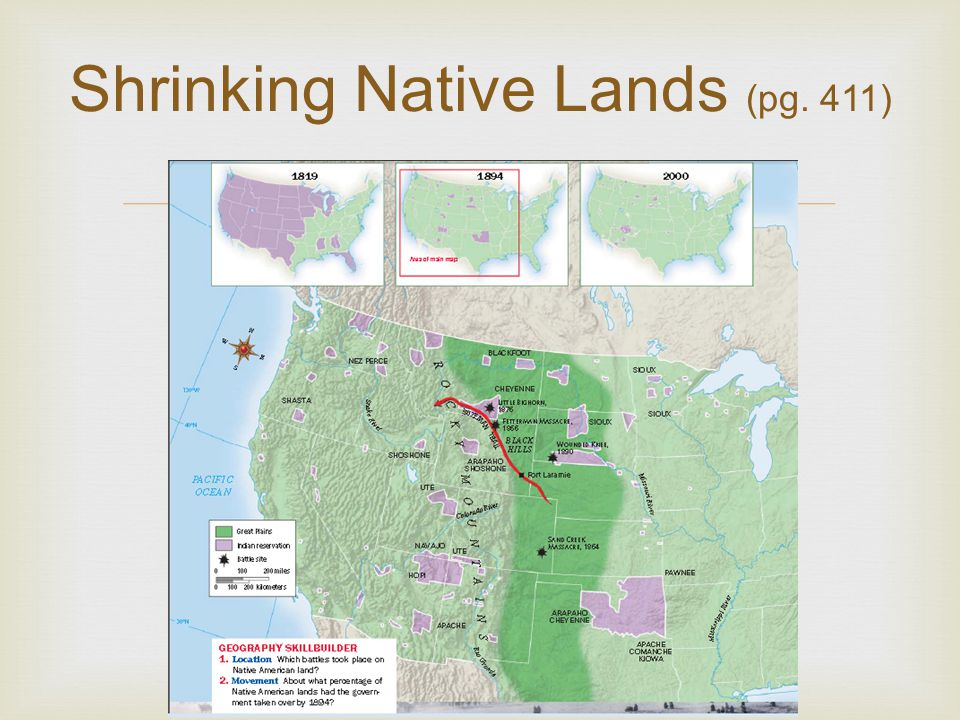 Shrinking Native Lands (pg. 411)