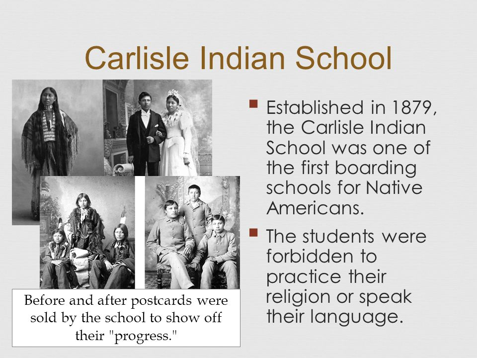 the carlisle indian school the beginning The national archives holds records for almost 7000 students who attended the carlisle indian school in carlisle the sioux at carlisle the school first.