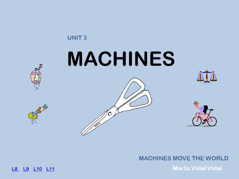 MACHINES UNIT 3 MACHINES MOVE THE WORLD Marta Vidal Vidal