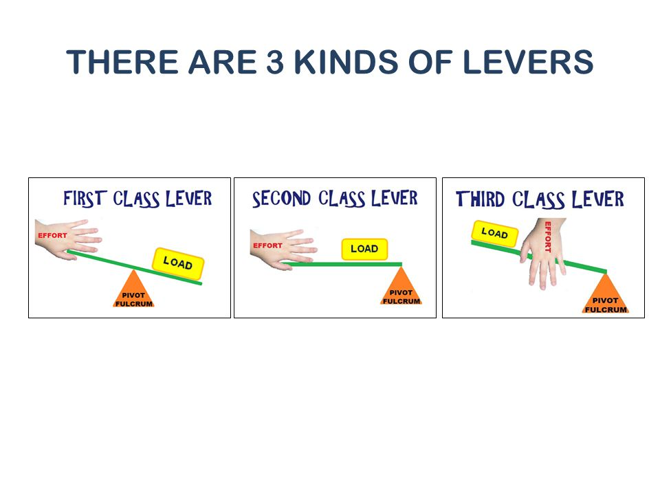 THERE ARE 3 KINDS OF LEVERS