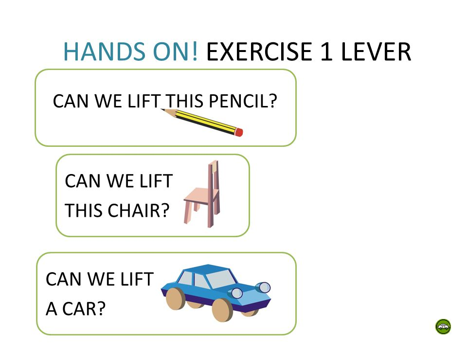 HANDS ON! EXERCISE 1 LEVER