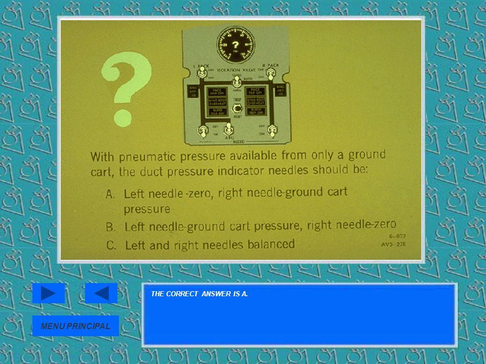 THE CORRECT ANSWER IS A. MENU PRINCIPAL
