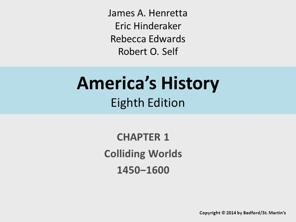 America's History Eighth Edition