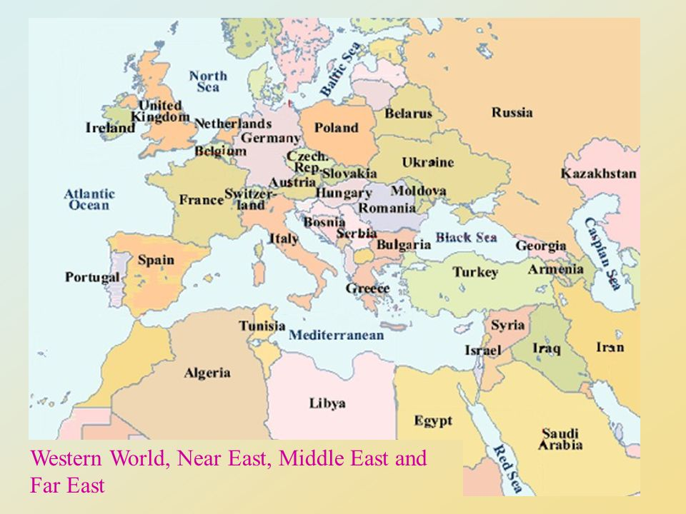 Western World, Near East, Middle East and Far East