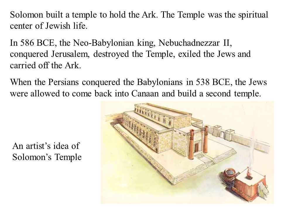 An artist's idea of Solomon's Temple