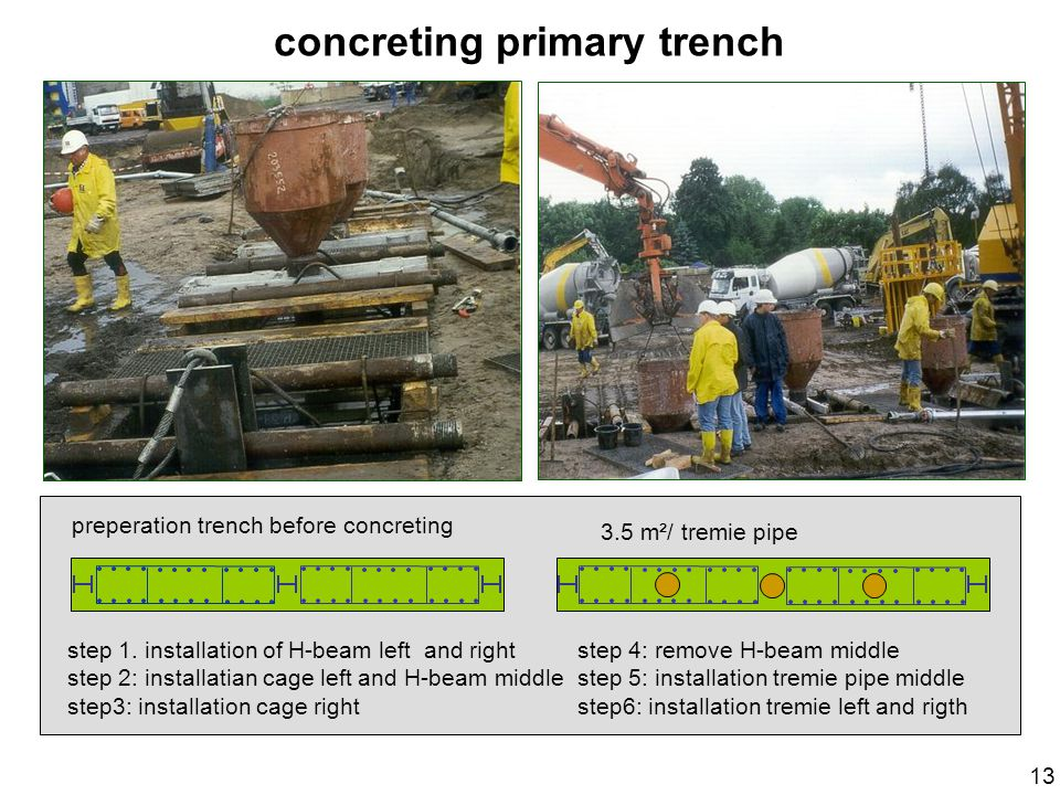 concreting primary trench
