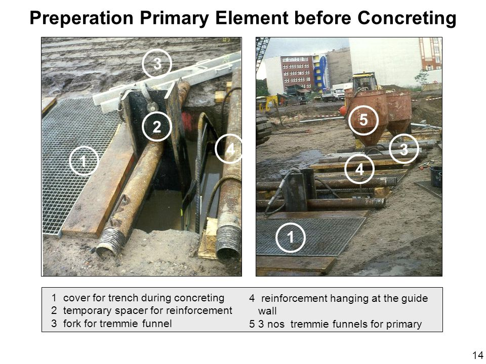 Preperation Primary Element before Concreting