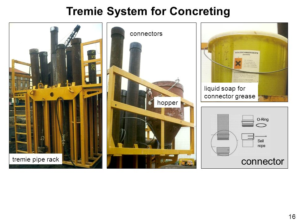 Tremie System for Concreting