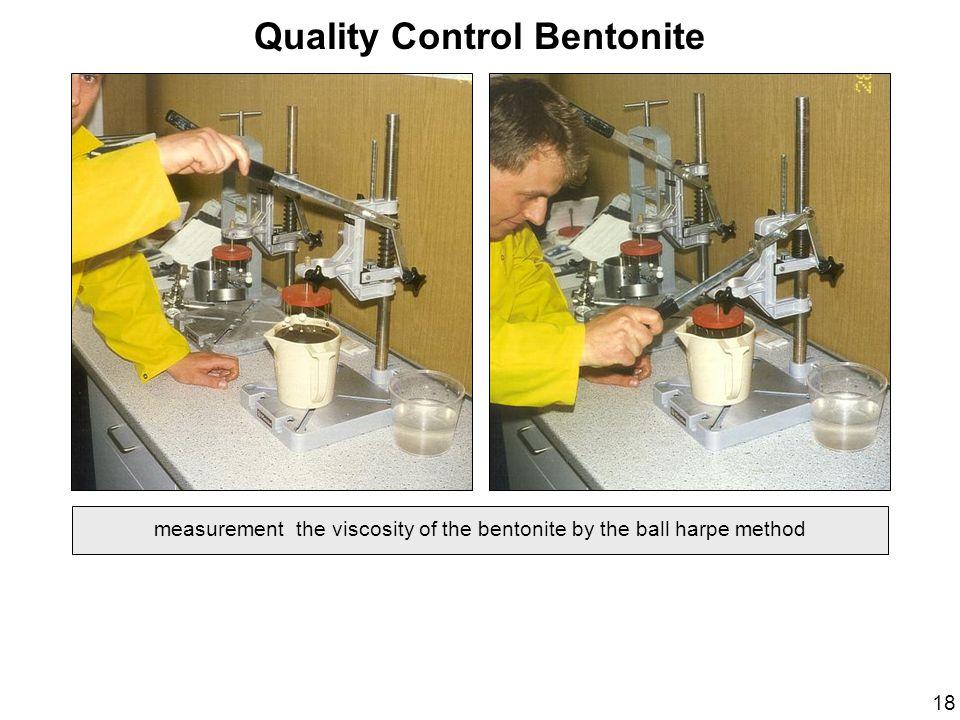 Quality Control Bentonite