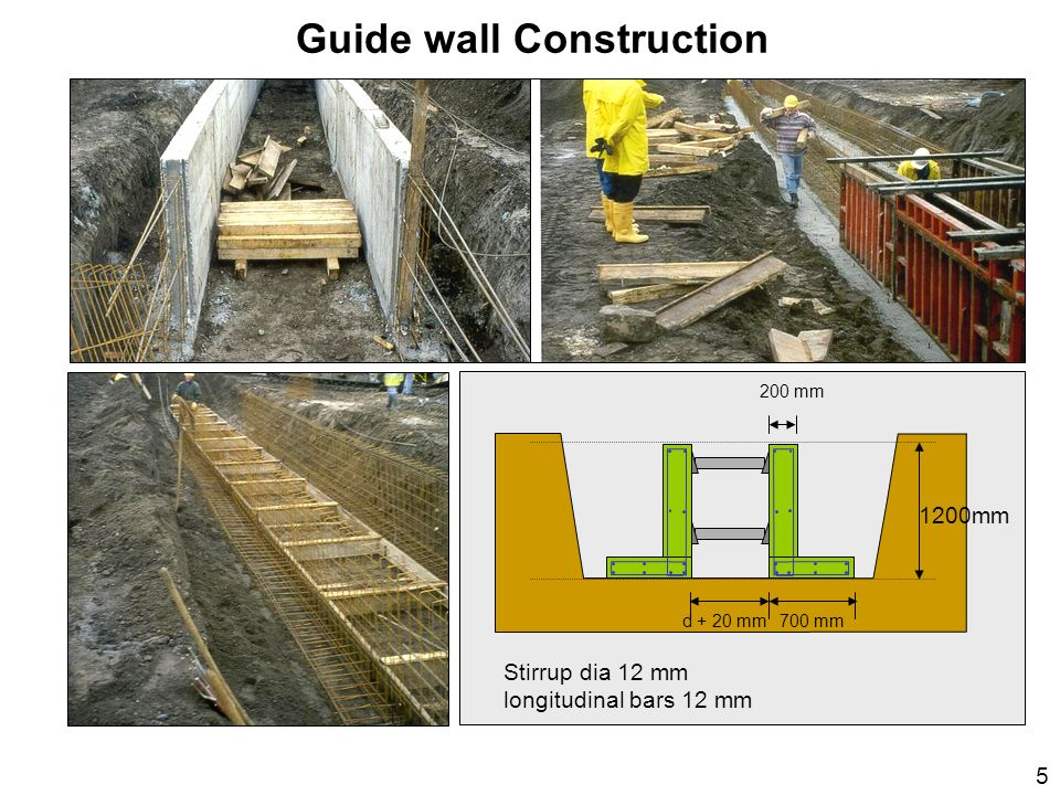 Guide wall Construction