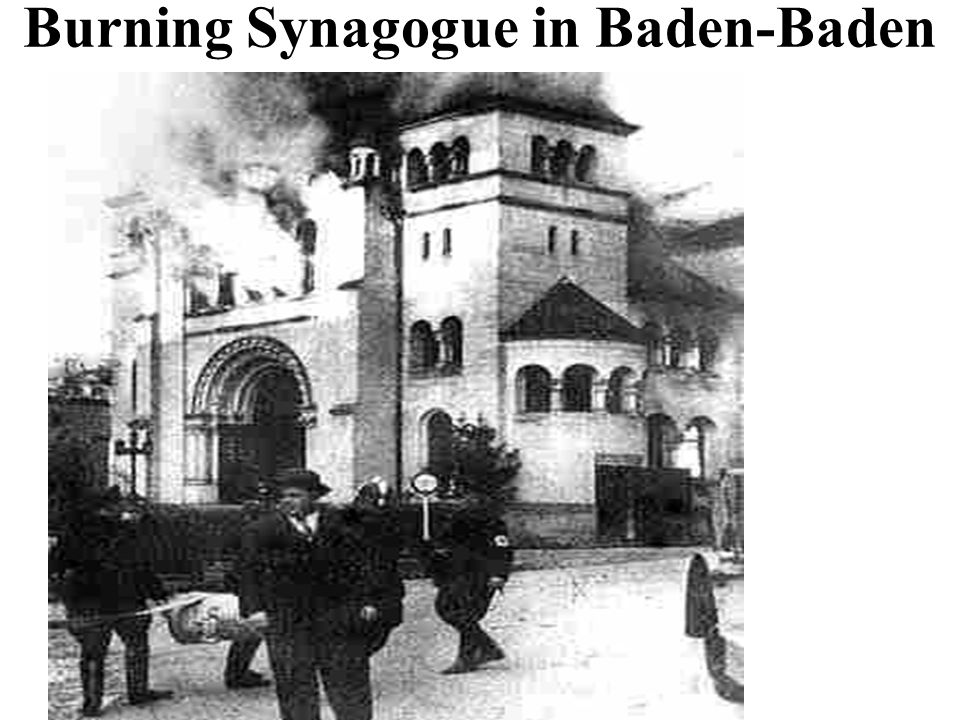 Burning Synagogue in Baden-Baden